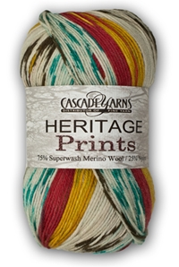 Heritage Prints Cascade yarns, heritage sock, heritage prints, self-striping sock yarn, washable, knitting, crocheting, wool, nylon, sock yarn