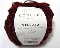 Velluto machine washable, katia velluto, velluto, katia, viscose, merino wool, worsted weight