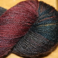 Barefoot superwash wool, mohair, nylon, worsted, DK