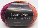 Rialto Luxury Sock Debbie Bliss, knitting, crocheting, yarn, sock, sock weight, wool, polyamide, blend, machine wash